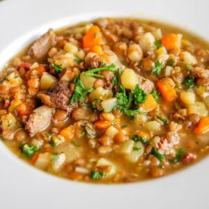 lentil soup, lenses, stew