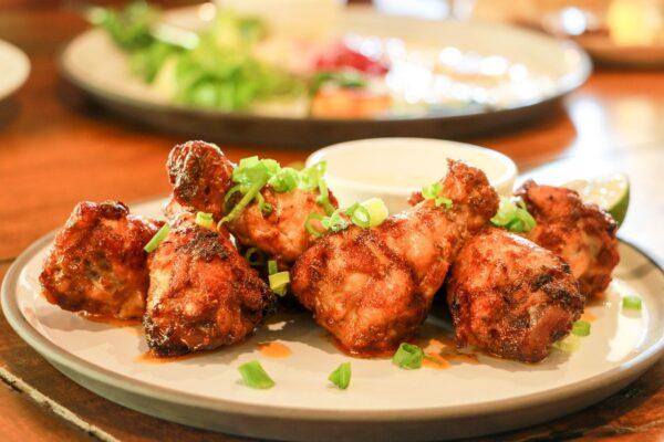 chicken, food, lunch