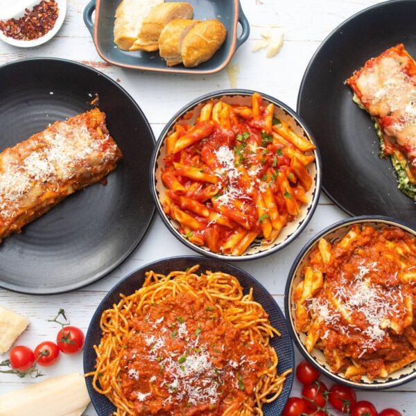 food, pasta, dish