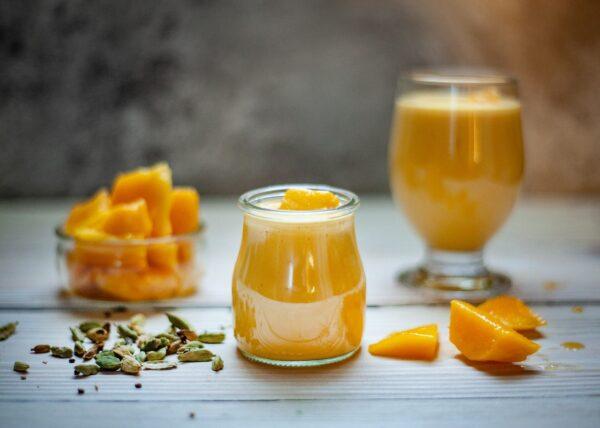 mango, drink, fruits