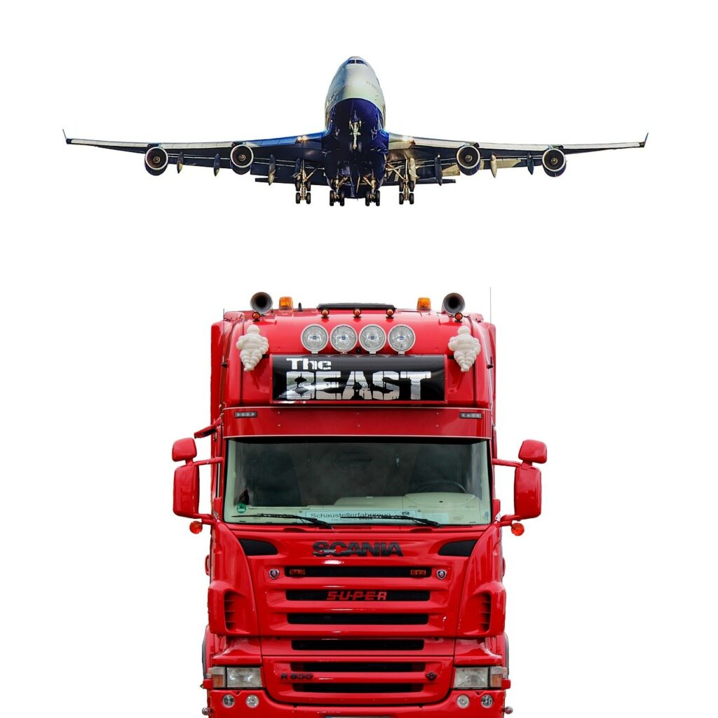 truck, plane, tr