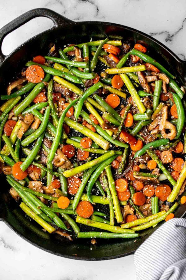 Carrot, mushroom